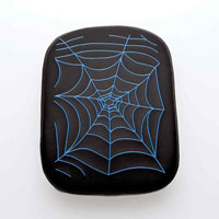 AC Precision Stick-On Passenger Seat with Spider Web Blue Stitching