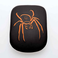 AC Precision Seats Stick-On Passenger Pad Spider with Orange Stitching