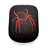 AC Precision Seats Stick-On Passenger Pad Spider with Red Stitching