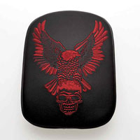 AC Precision Stick-On Passenger Seat Eagle with Red Stitching