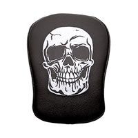 Stick-On Passenger Pad Skull with White Stitching