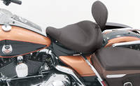 Mustang Smooth Police Air Ride Solo Seat with Driver Backrest