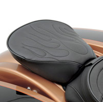 Drag Specialties Wide Passenger Seat with Flamed Stitching