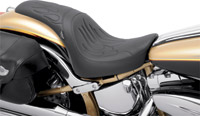 Drag Specialties Predator Seat with Flame Stitch
