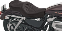 Drag Specialties Wide Low-Profile Flame Stitch Seat