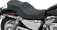 Drag Specialties Low Profile Touring Seat with Flame Stitch