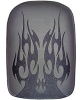 Phantom Pad Large Solid Embroidery Vinyl Flame Black Passenger Seat
