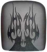 Phantom Pad X-Large Solid Embroidery Vinyl Flame Black Passenger Seat