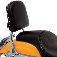 Drag Specialties Smooth Oversized Sissy Bar Pad with Studs