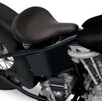Drag Specialties Large Spring Solo Seat with Black Vinyl Smooth