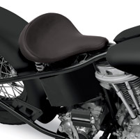Drag Specialties Large Spring Solo Seat with Black Solar-Reflective Leather Smooth