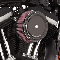Arlen Ness Stage I Billet Big Sucker Air Filter Kits, Beveled Black