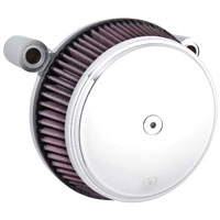 Arlen Ness Stage I Billet Big Sucker Air Filter Kits, Smooth Chrome