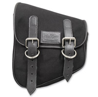LaRosa Design Eliminator Black Canvas Swingarm Bag