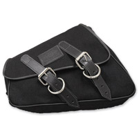 LaRosa Design Eliminator Black Canvas Saddlebag
