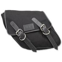 LaRosa Design Eliminator Black Canvas Swingarm Bag