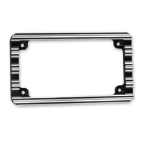 Arlen Ness 10-Gauge Black License Plate Frame