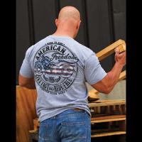 J&P Cycles Men's Freedom Bike Gray T-Shirt