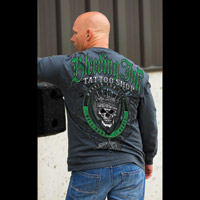 Chapter 13 Men's Bleeding Ink II Charcoal Long-Sleeve T-Shirt