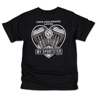 Biltwell Inc. Men's Girlfriend Black T-Shirt