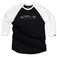Biltwell Inc. Men's Basic Black/White Raglan Shirt