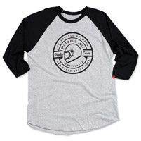 Biltwell Inc. Men's Icon Gray/Black Raglan Shirt