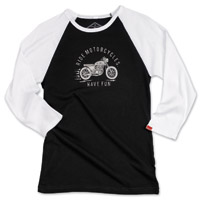 Biltwell Inc. Women's RMHF Black/White Raglan Shirt