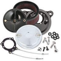 S&S Cycle Stealth Air Cleaner Kits with Chrome Muscle Cover