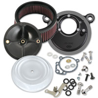 S&S Cycle Stealth Air Cleaner Kits with Chrome Bobber Dished Cover