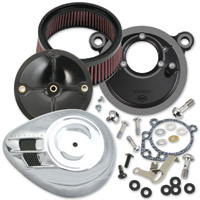 S&S Cycle Stealth Air Cleaner Kit with Chrome Airstream Cover