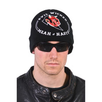 Hogshoppe Evil Wicked Black Knit Beanie