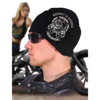 Hogshoppe Respect Earned Black Knit Beanie