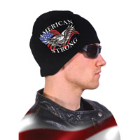 Hogshoppe American Strong Black Knit Beanie