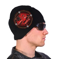 Hogshoppe Lucky Devil Black Knit Beanie