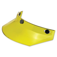 Biltwell Inc. Yellow Translucent 3-Snap Moto Visor