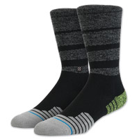 Stance Men's Commish Crew Cut Black/Gray Socks