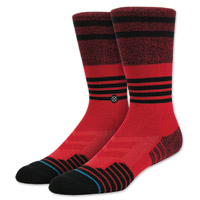 Stance Men's Lunar Crew Cut Red Socks