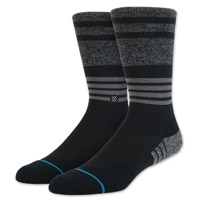 Stance Men's Darkfold Crew Cut Black Socks