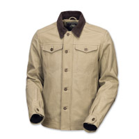 Roland Sands Design Men's Ramone Khaki Cotton Duck Jacket