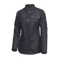 Roland Sands Design Women's Ginger Black Waxed Cotton Jacket