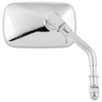 BikeMaster Universal Chrome Rectangular Mini Mirror