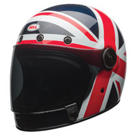 Bell Bullitt Carbon Spitfire Blue/Red Full Face Helmet