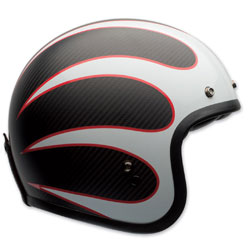 Bell Custom 500 Carbon Ace Cafe Ton Up Open Face Helmet