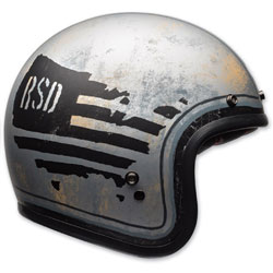 Bell Custom 500 RSD 74 Black/Silver Open Face Helmet
