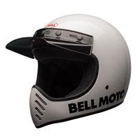 Bell Moto-3 Classic White Full Face Helmet