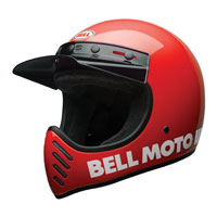 Bell Moto-3 Classic Red Full Face Helmet