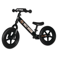 Strider Sports International Inc. Harley-Davidson No-Pedal Black Bike