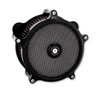 Performance Machine SuperGas Air Cleaner Black Ano for 58mm Throttle Bodies