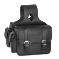 River Road Compact Black Saddlebags with Quick-Release Straps