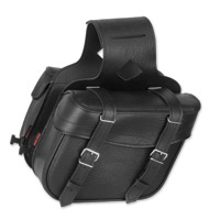 River Road Slant Compact Black Saddlebags with Quick-Release Straps